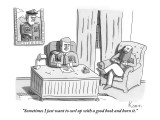 """""""Sometimes I just want to curl up with a good book and burn it."""" - New Yorker Cartoon Premium Giclee Print by Zachary Kanin"""