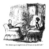 """""""Dr. Stolner says it might be nice if I let you see my dark side."""" - New Yorker Cartoon Premium Giclee Print by Robert Weber"""