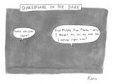 There is a dark scene with two word bubbles. - New Yorker Cartoon Premium Giclee Print by Zachary Kanin