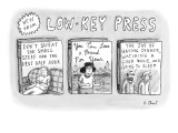 A catalog from a publisher called Low-Key Press features three new books. … - New Yorker Cartoon Premium Giclee Print by Roz Chast