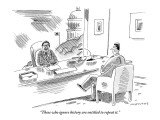 """Those who ignore history are entitled to repeat it."" - New Yorker Cartoon Premium Giclee Print by Mick Stevens"