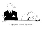 """I suffer from accurate self-esteem."" - New Yorker Cartoon Premium Giclee Print by Ariel Molvig"