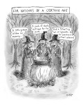 """Witches of a Certain Age…"" Aging witches at health products to their ca…"" - New Yorker Cartoon Premium Giclee Print by Roz Chast"