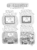 """Ed Calloway: A retrospective."" - New Yorker Cartoon Premium Giclee Print by Roz Chast"
