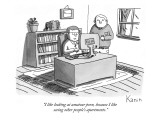 """I like looking at amateur porn, because I like seeing other people's apar…"" - New Yorker Cartoon Premium Giclee Print by Zachary Kanin"