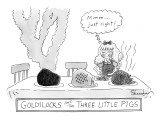 Goldilocks and the Three Little Pigs. - New Yorker Cartoon Premium Giclee Print by Danny Shanahan
