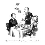 """If you wanted the no-smoking section, you should have said so."" - New Yorker Cartoon Premium Giclee Print by Eldon Dedini"