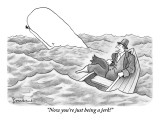 """Now you're just being a jerk!"" - New Yorker Cartoon Premium Giclee Print by David Borchart"