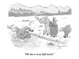 """""""He has a very deft touch."""" - New Yorker Cartoon Premium Giclee Print by Danny Shanahan"""
