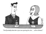 """You'll probably think this is just some opening line, but ... call me Ish…"" - New Yorker Cartoon Premium Giclee Print by J.C. Duffy"