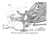 """Well, that's the last time we drop in on your parents."" - New Yorker Cartoon Premium Giclee Print by Michael Crawford"