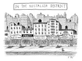 Five stores on a street make-up The Nostalgia District because all the pro… - New Yorker Cartoon Premium Giclee Print by Roz Chast