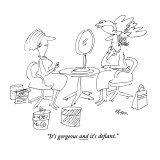"""""""It's gorgeous and it's defiant."""" - New Yorker Cartoon Premium Giclee Print by Dean Vietor"""