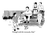 """""""Enough with the vuvuzela, Dad."""" - New Yorker Cartoon Premium Giclee Print by Emily Flake"""