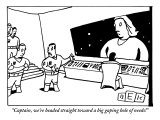 """""""Captain, we're headed straight toward a big gaping hole of needs!"""" - New Yorker Cartoon Premium Giclee Print by Bruce Eric Kaplan"""