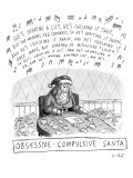 Title: Obsessive-Compulsive Santa. Santa is shown writing a list.  Song no… - New Yorker Cartoon Premium Giclee Print by Roz Chast