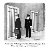 """Great news, Phil! The governor has determined that you don't have a high …"" - New Yorker Cartoon Premium Giclee Print by J.B. Handelsman"
