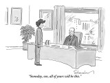 """""""Someday, son, all of yours will be this."""" - New Yorker Cartoon Premium Giclee Print by Danny Shanahan"""