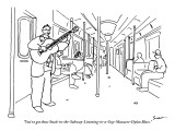 """""""You've got those Stuck-in-the-Subway-Listening-to-a-Guy-Massacre-Dylan Bl…"""" - New Yorker Cartoon Premium Giclee Print by Michael Shaw"""