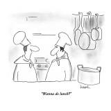 """Wanna do lunch?"" - New Yorker Cartoon Premium Giclee Print by Arnie Levin"