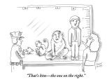 """That's him—the one on the right."" - New Yorker Cartoon Premium Giclee Print by Trevor Hoey"