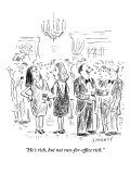 """He's rich, but not run-for-office rich."" - New Yorker Cartoon Premium Giclee Print by David Sipress"