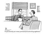 """I'm fascinated by your résumé, particularly the advertising supplement."" - New Yorker Cartoon Premium Giclee Print by Leo Cullum"