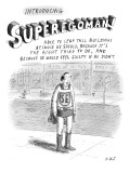 Introducing SUPEREGOMAN!; Able to leap tall buildings because he should, b… - New Yorker Cartoon Premium Giclee Print by Roz Chast