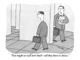 """You might as well turn back—all they have is cheese."" - New Yorker Cartoon Premium Giclee Print by Peter C. Vey"