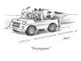 &quot;I&#39;m pregnant.&quot; - New Yorker Cartoon Premium Giclee Print by Tom Cheney