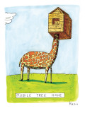 "(""Mobile Tree Home"") - New Yorker Cartoon Premium Giclee Print by Zachary Kanin"