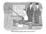 &quot;When did last requests take over our lives?&quot; - New Yorker Cartoon Premium Giclee Print by Peter C. Vey