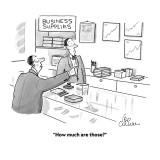 """How much are those?"" - Cartoon Premium Giclee Print by Leo Cullum"