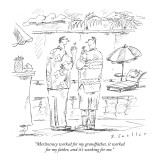 """Meritocracy worked for my grandfather, it worked for my father, and it's …"" - New Yorker Cartoon Premium Giclee Print by Barbara Smaller"