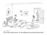 """It's not the snoring I mind—it's the talking noise you make during the day."" - New Yorker Cartoon Premium Giclee Print by Michael Maslin"