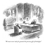"""We must never take for granted the precious gift of hindsight."" - New Yorker Cartoon Premium Giclee Print by Frank Cotham"