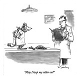&quot;May I keep my collar on?&quot; - New Yorker Cartoon Premium Giclee Print by Mike Twohy