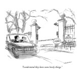 """I understand they have some lovely things."" - New Yorker Cartoon Premium Giclee Print by James Stevenson"