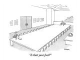 """Is that your foot?"" - New Yorker Cartoon Premium Giclee Print by Jack Ziegler"