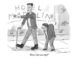 """""""How's the new hip?"""" - New Yorker Cartoon Premium Giclee Print by Danny Shanahan"""