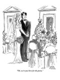 """Oh, we're just here for the party."" - New Yorker Cartoon Premium Giclee Print by Marisa Acocella Marchetto"