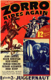 Zorro Rides Again Masterprint