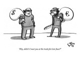 """Hey, didn't I meet you at the trade fair last June?"" - New Yorker Cartoon Premium Giclee Print by Farley Katz"