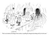"""Due to an incident at the Bergen Street station, everything has changed a…"" - New Yorker Cartoon Premium Giclee Print by David Sipress"