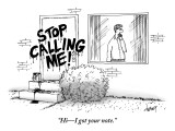 """Hi–I got your note."" - New Yorker Cartoon Premium Giclee Print by Tom Cheney"