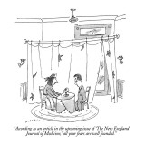 """According to an article in the upcoming issue of 'The New England Journal…"" - New Yorker Cartoon Premium Giclee Print by Michael Maslin"