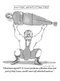 """""""Ukrainian legend V.N. Levev performs a flawless clean and jerk of Amy Luc…"""" - New Yorker Cartoon Premium Giclee Print by Michael Crawford"""