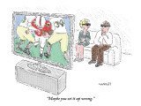 """Maybe you set it up wrong."" - New Yorker Cartoon Premium Giclee Print by Robert Mankoff"