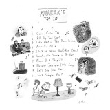 Muzak's Top 10 - New Yorker Cartoon Premium Giclee Print by Roz Chast