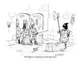 """His Highness is changing his relationship status."" - New Yorker Cartoon Premium Giclee Print by David Sipress"